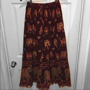 Dresses & Skirts - ❤️ Imported Elephant Cowgirl/Boho Skirt Size L/XL